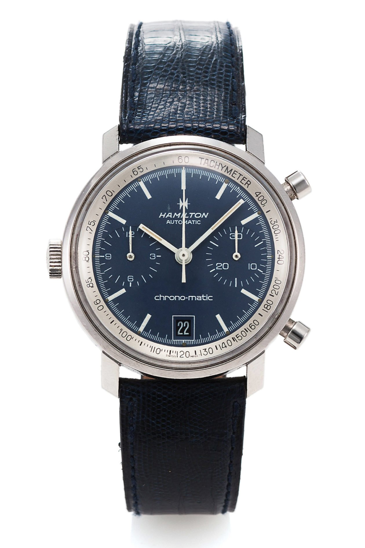 Hamilton Chrono-Matic 11002-3 z lat 70. / foto: Antiquorum