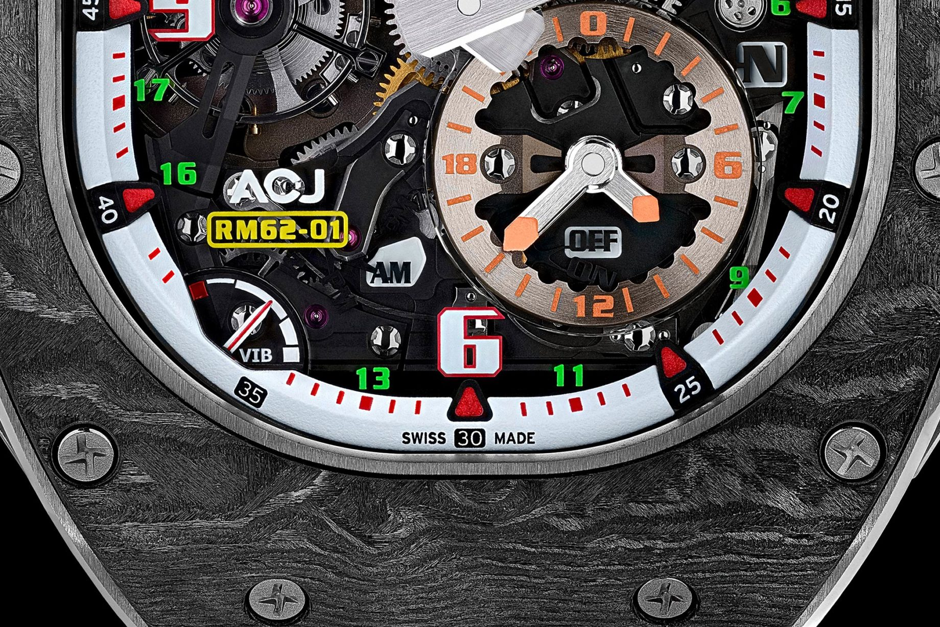 Richard Mille RM 62-01 Tourbillon Vibrating Alarm Airbus Corporate Jets