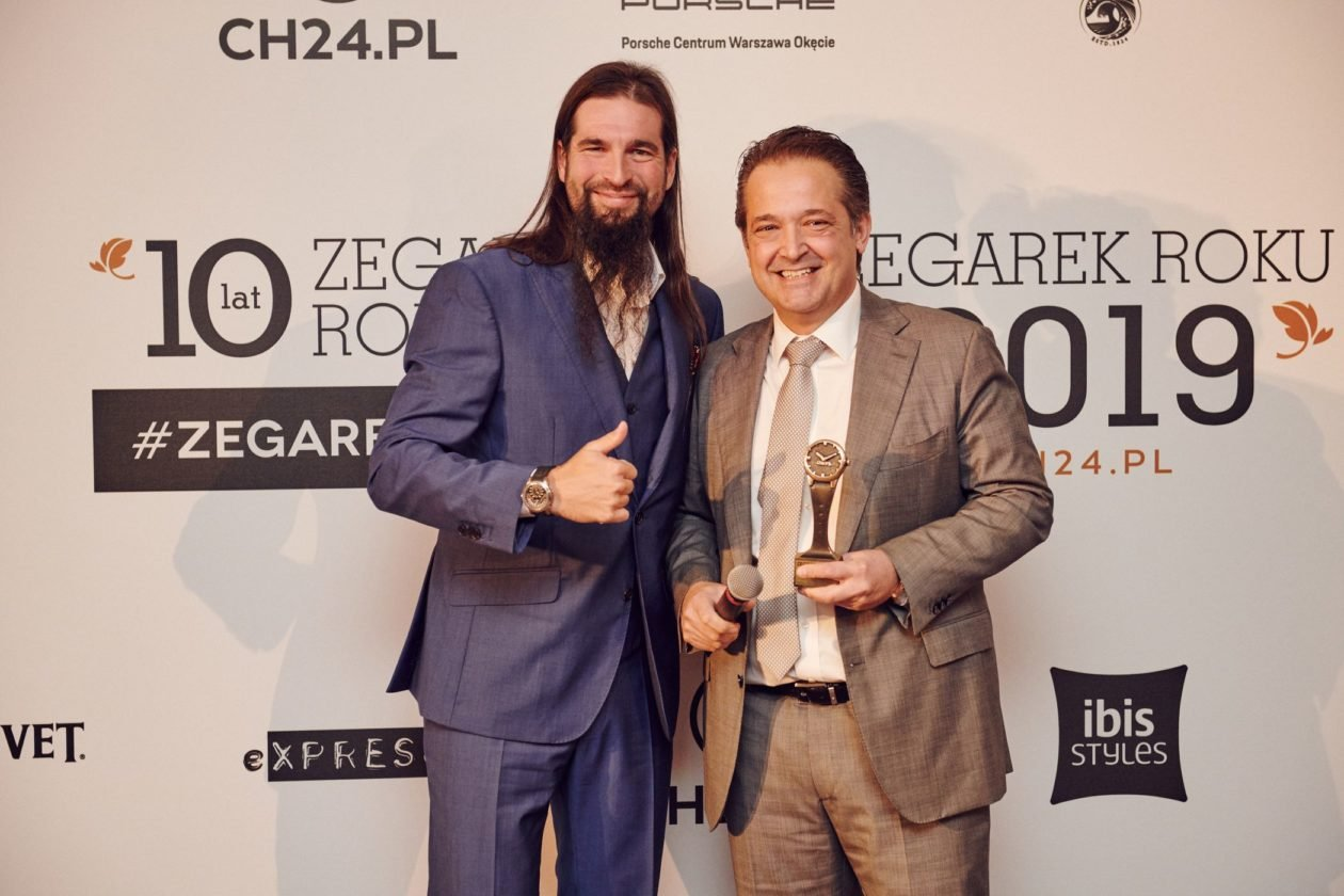 Jan Lidmansky and Juri Dalla Rosa (Area Manager Carl F. Bucherer)