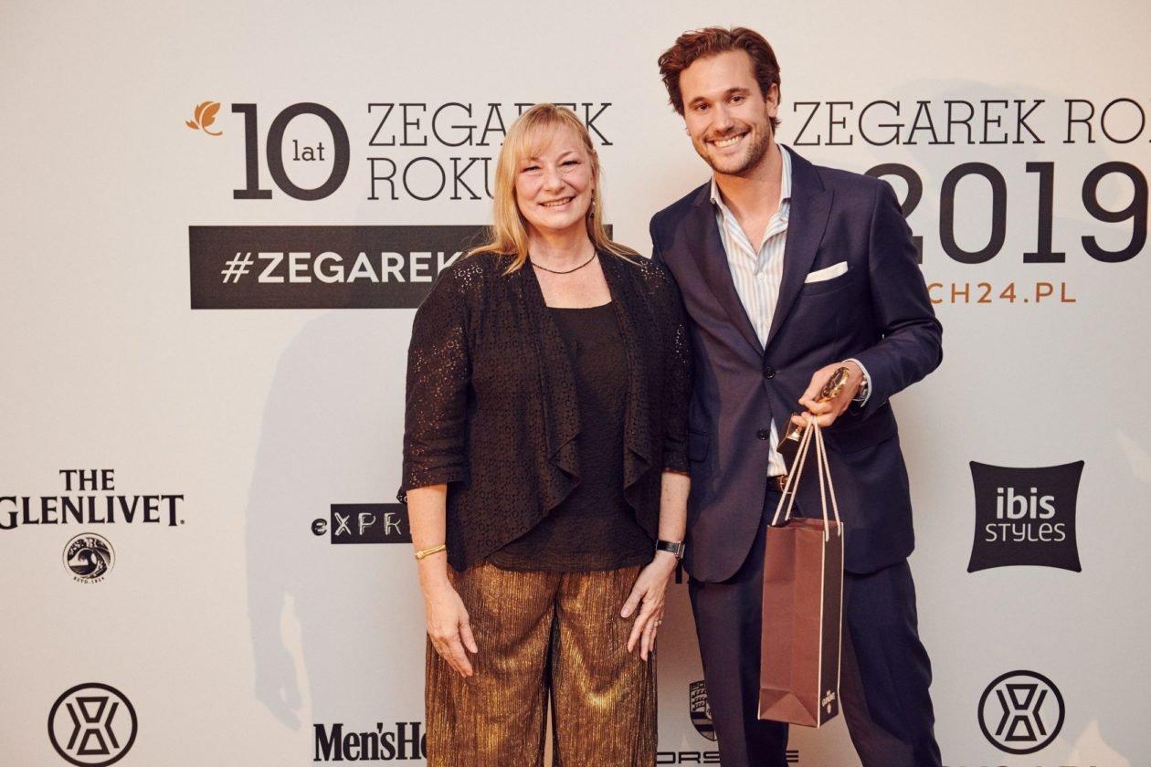 Elizabeth Doerr (Quill & Pad) i Arnaud Légeret (Communications Manager MB&F)