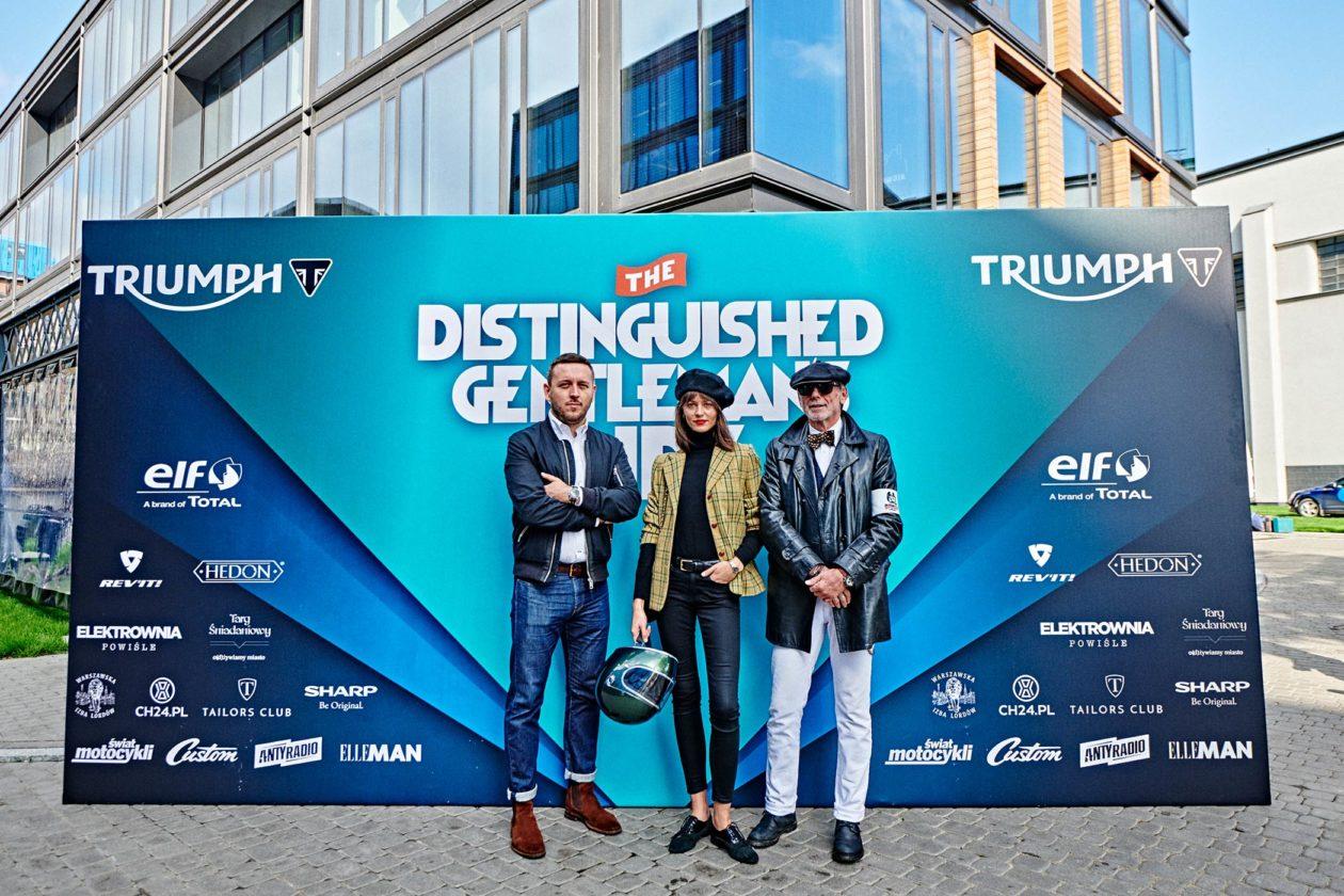 Distinguished Gentleman's Ride 2019 – Warszawa: (od lewej) Łukasz Doskocz - CH24.PL, Marta Dyks, Ireneusz Korzeniewski (Styleman.pl)
