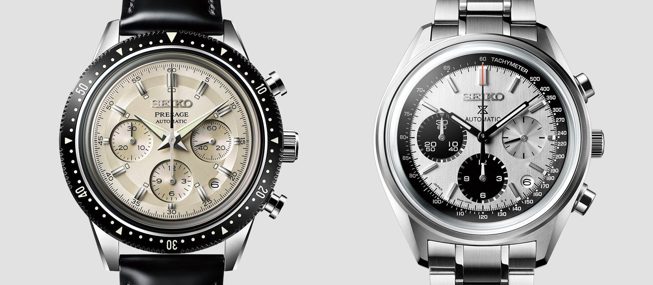 Seiko Automatic Chronograph Prospex SRQ029 i Presage SRQ031