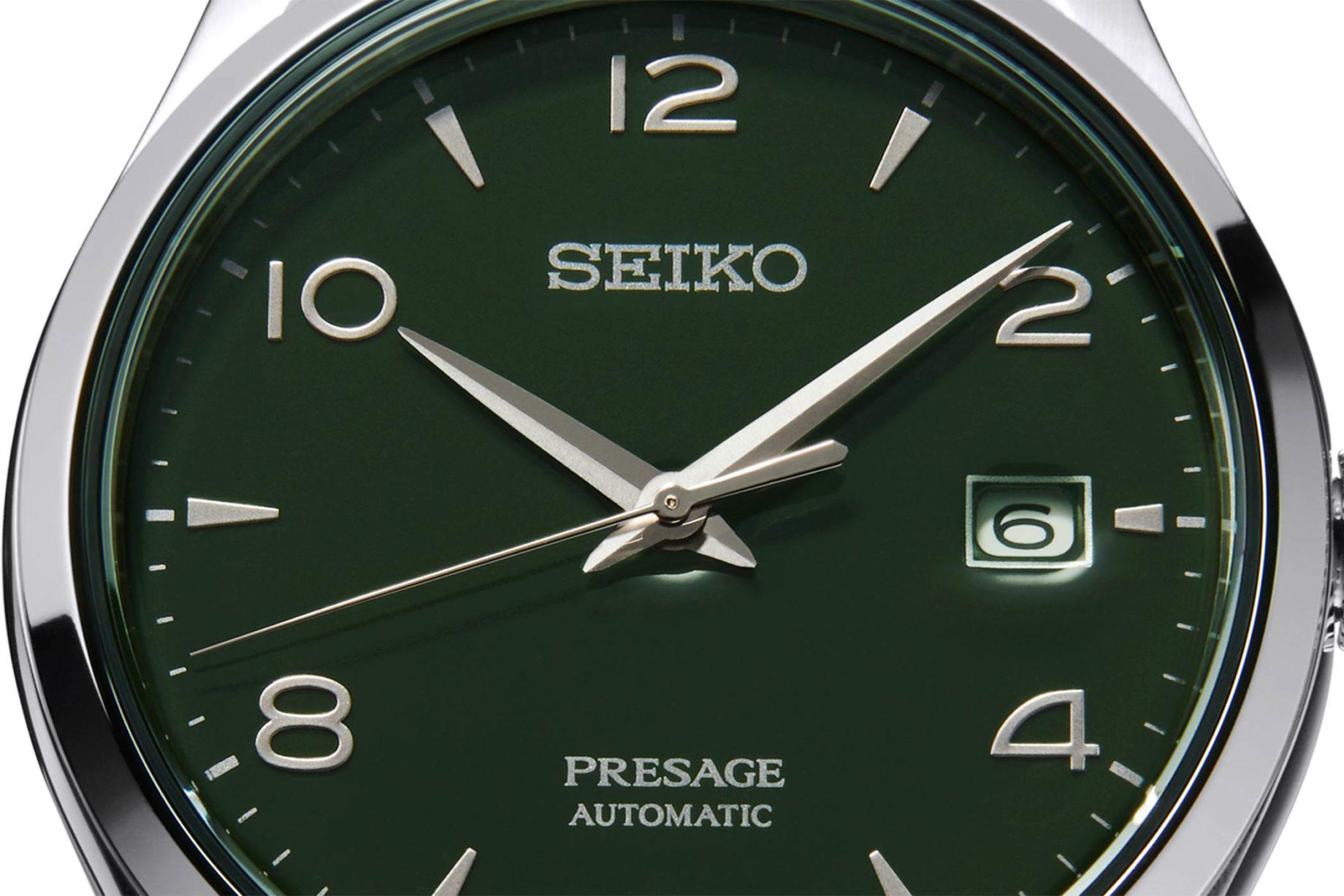 Seiko Presage Green Enamel Dial LE