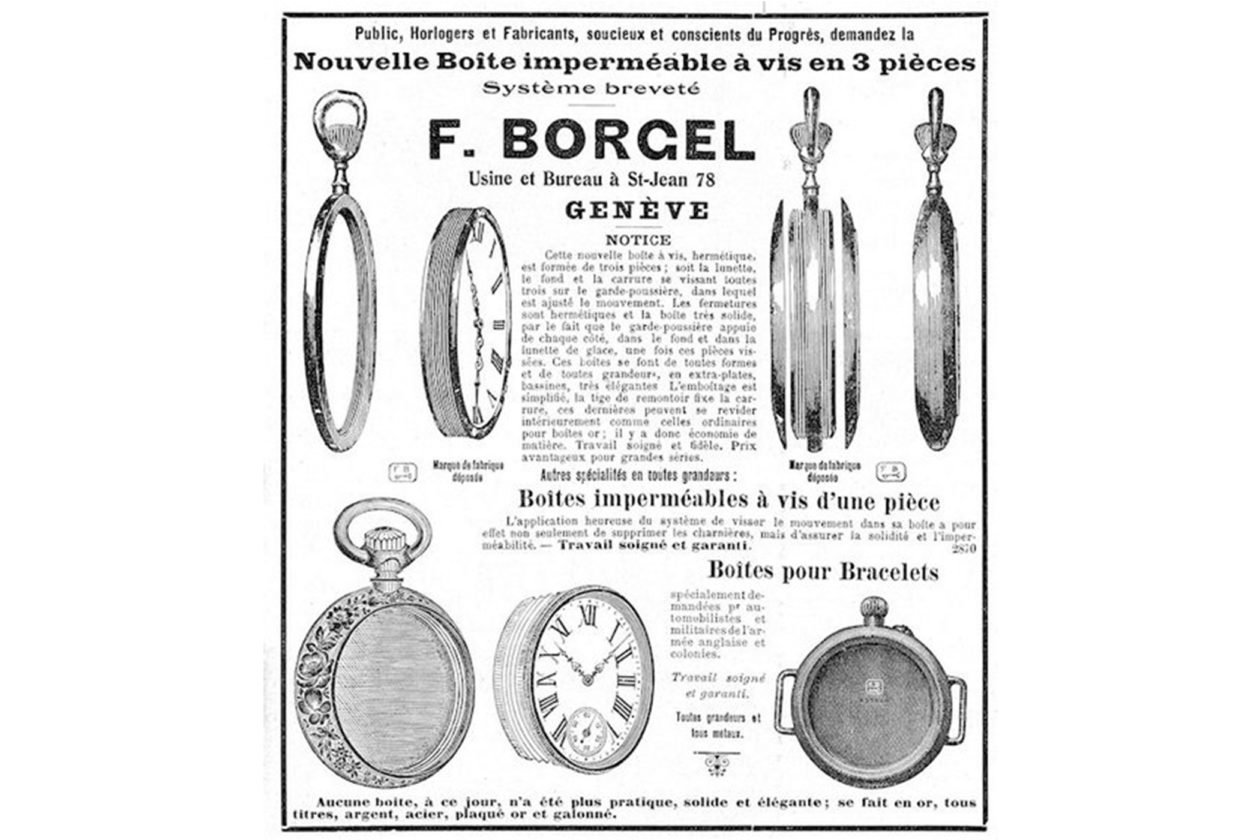 Reklama z 1912 roku / foto: VintageWatchstraps & David Boettcher