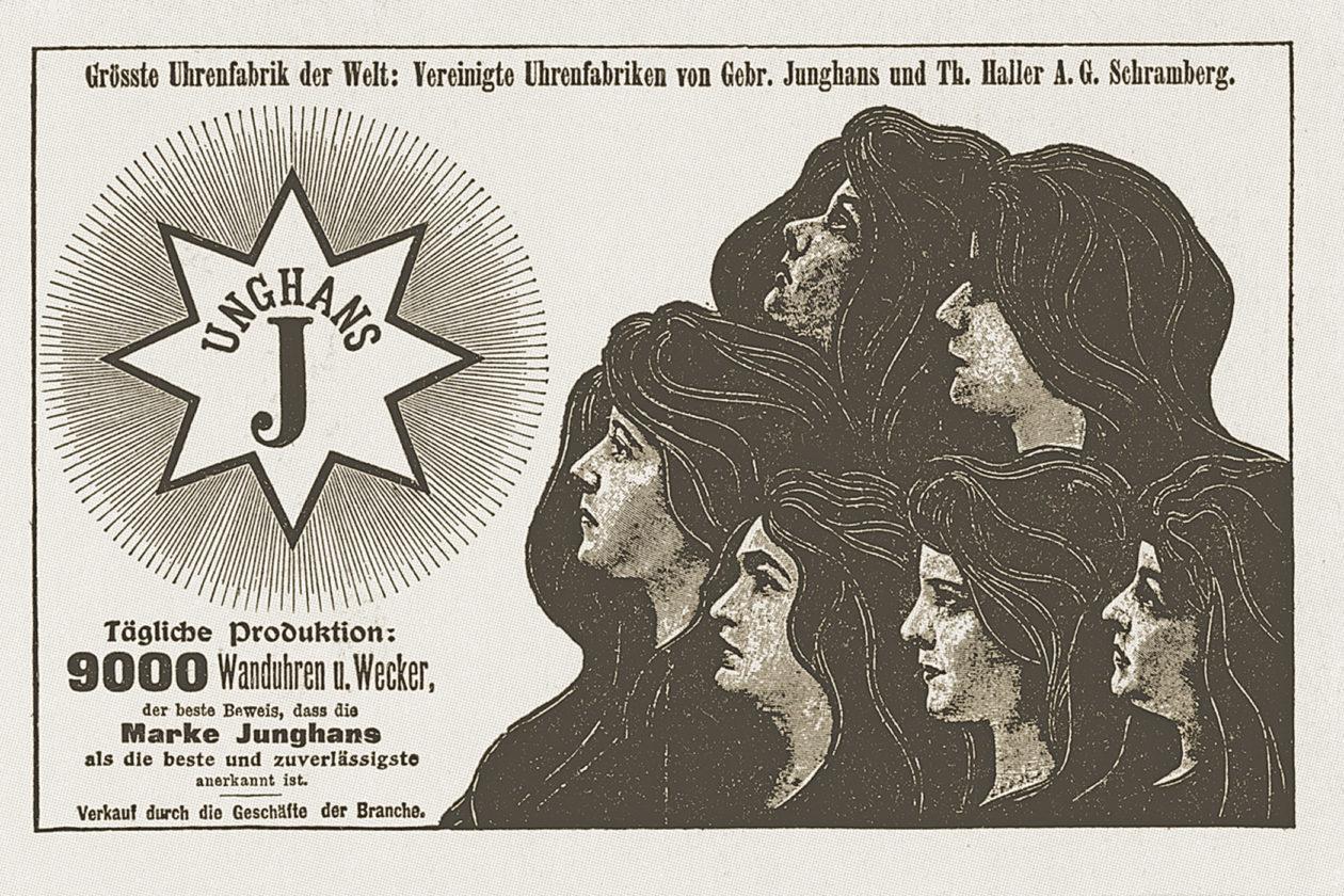 Reklama firmy Junghans - 1903 rok