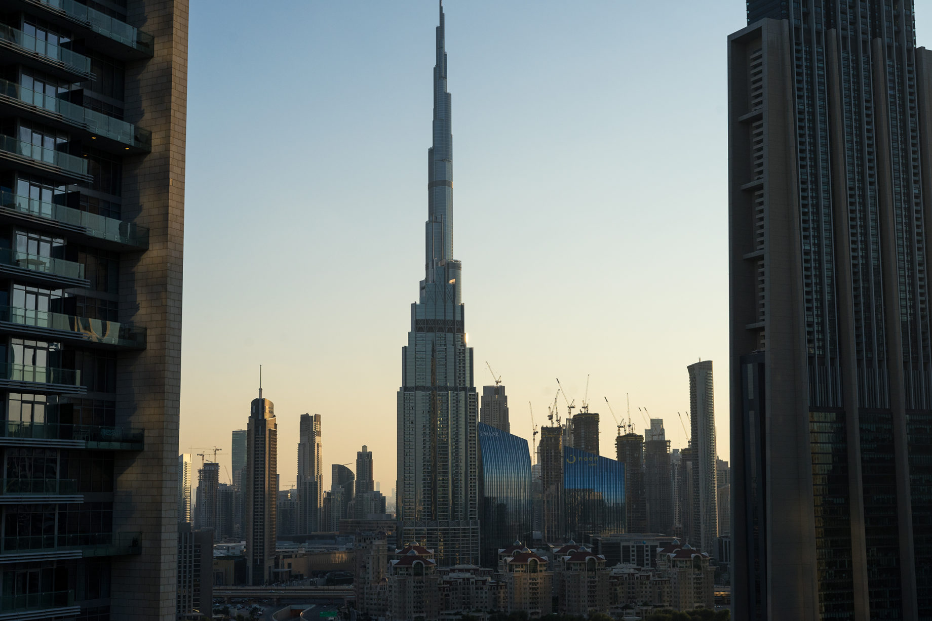 Dubai, widok na Burj Khalifa