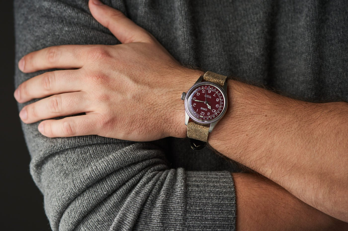 """Hands-On"" Oris Big Crown Pointer Date Burgundy [zdjęcia live, cena]"