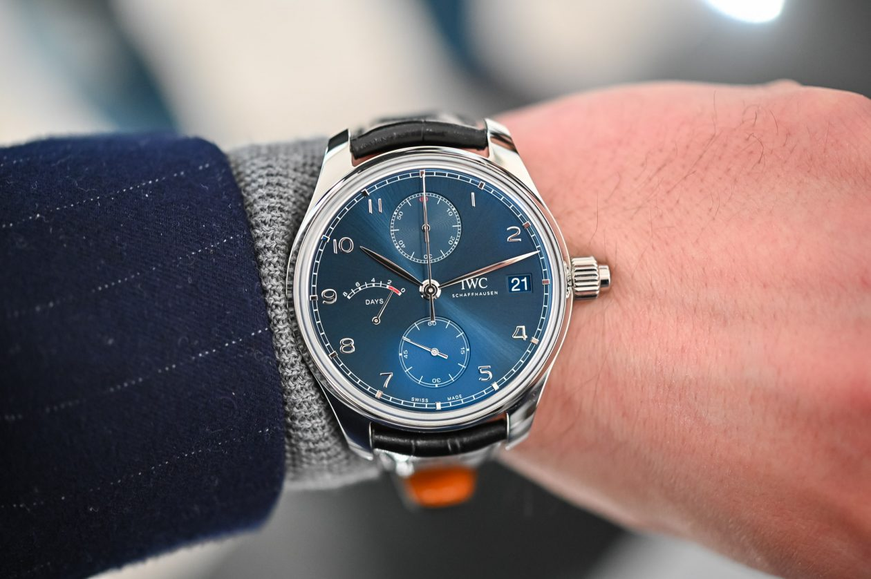 "IWC Portugieser Hand-Wound Monopusher Edition ""Laureus"" / foto: Monochrome-watches.com"
