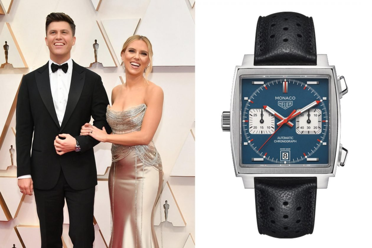 Colin Jost i TAG Heuer Monaco / foto: Amy Sussman Getty Images