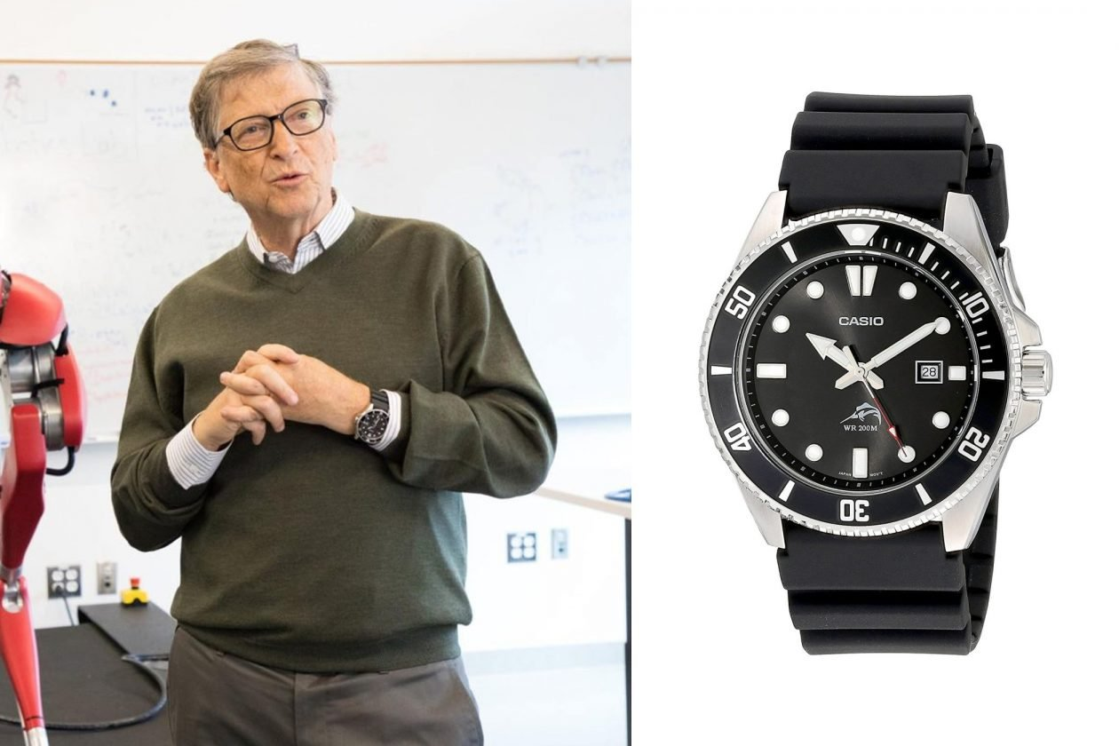 Bill Gates i Casio / foto: whatkindofwatch.com