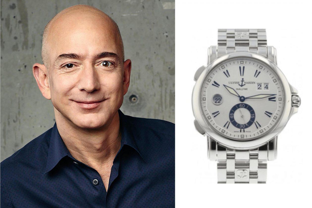 Jeff Bezos i Ulysse Nardin / foto: materiały prasowe