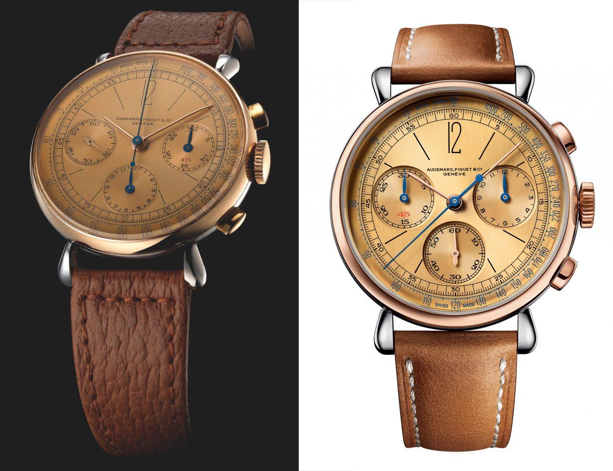 od lewej: Audemars Piguet Ref. 1533 i [Re]master01 Chronograph
