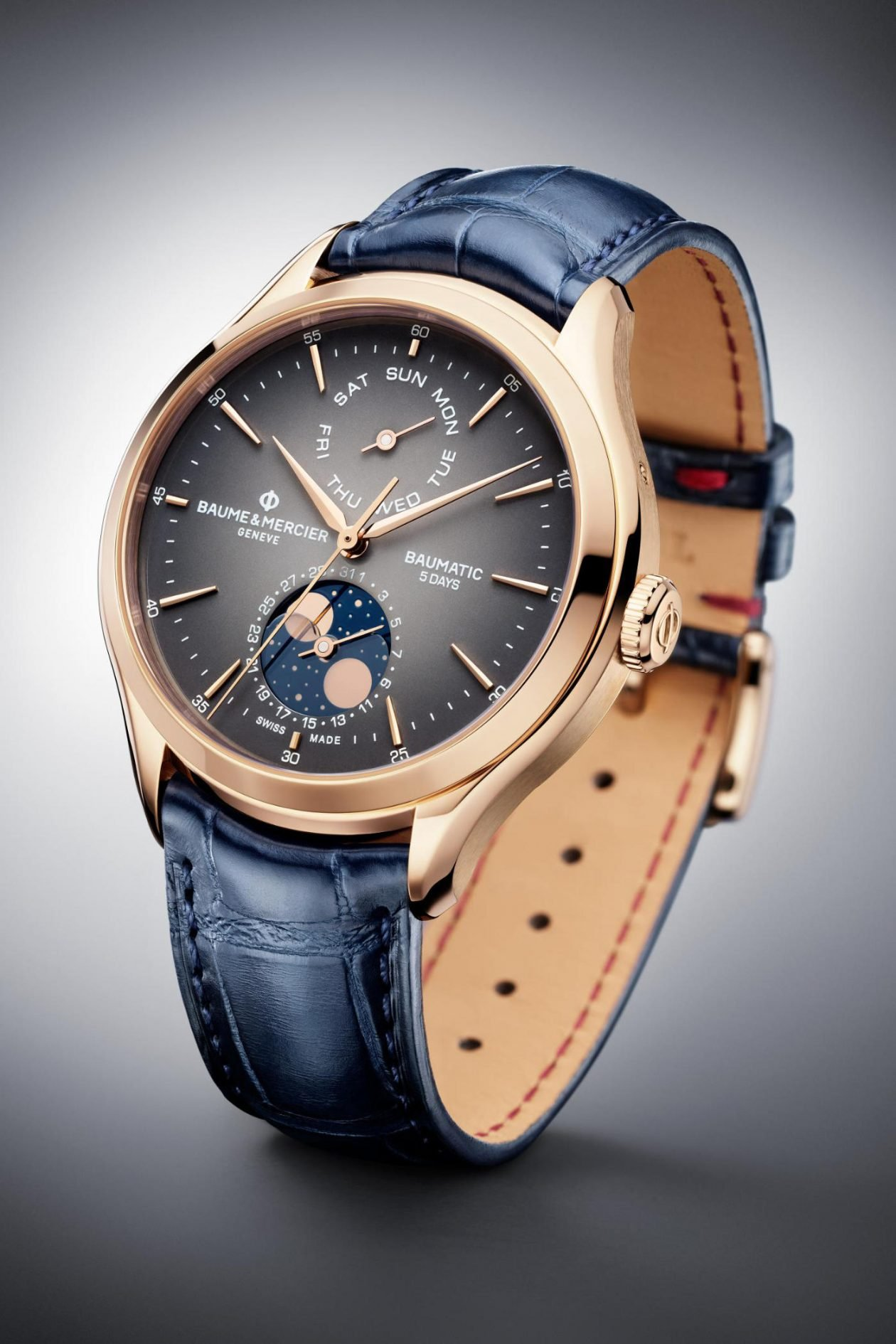 Baume & Mercier Clifton Baumatic Day-date Moon Phase