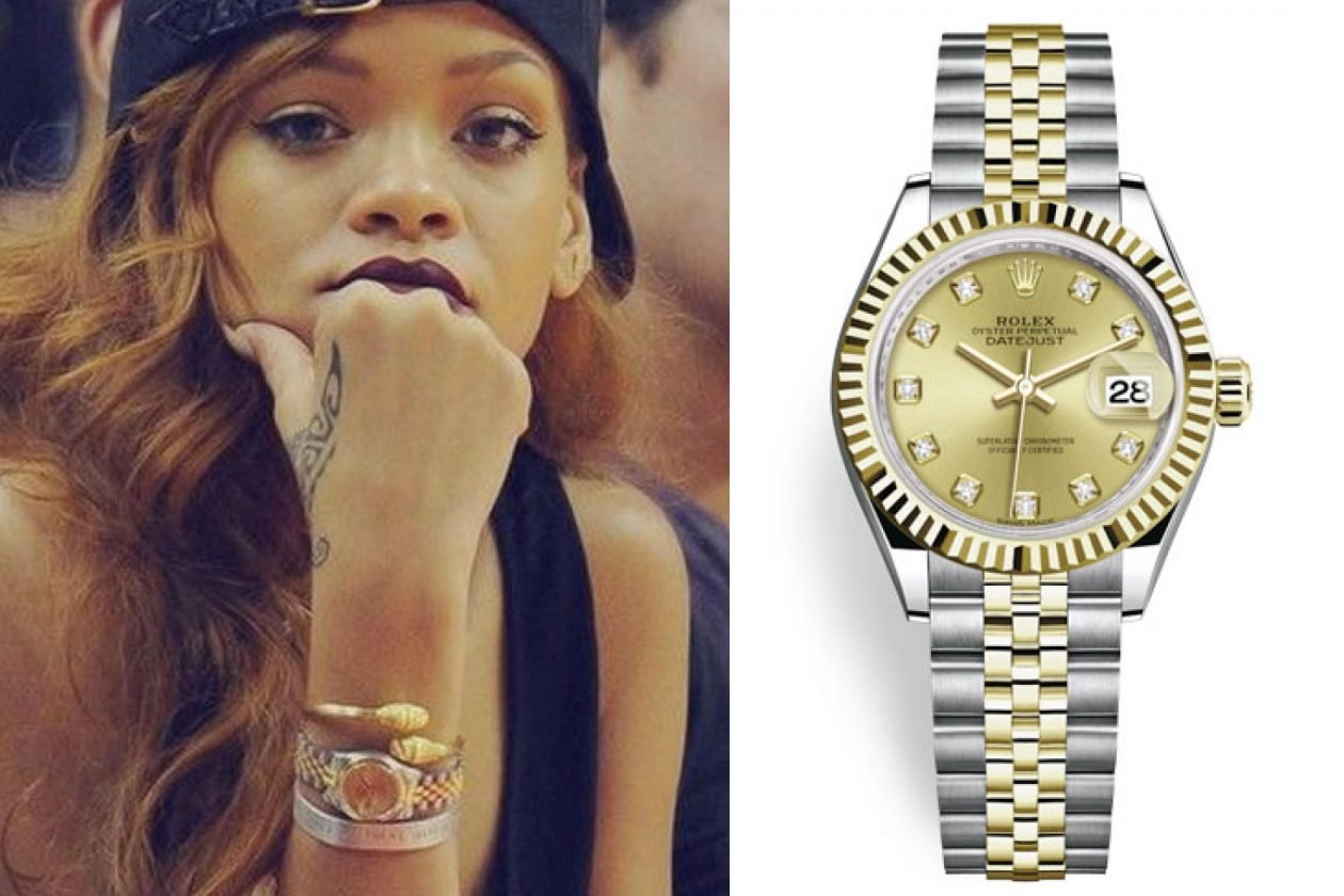 Rihanna and Rolex Datejust / foto: wcelebs.com