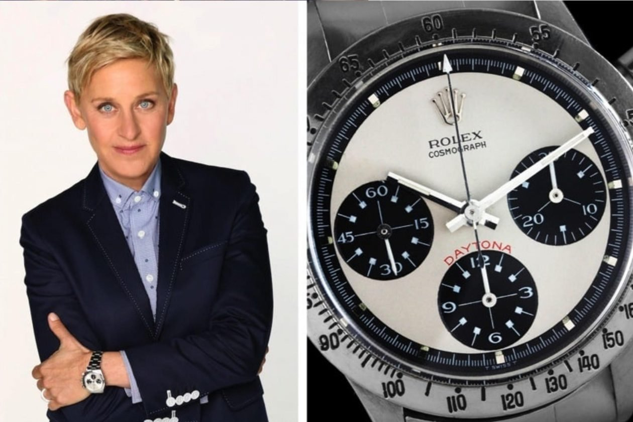 Ellen DeGeneres i Rolex / foto: pinterest