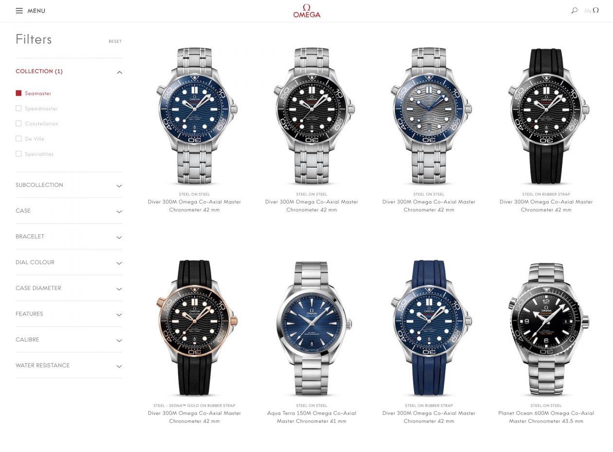 Internetowy butik Omegi / foto: monochrome-watches