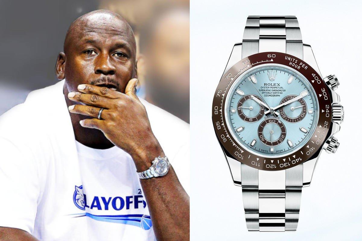 Michael Jordan & Rolex / foto: goldmanwatchexchange.com