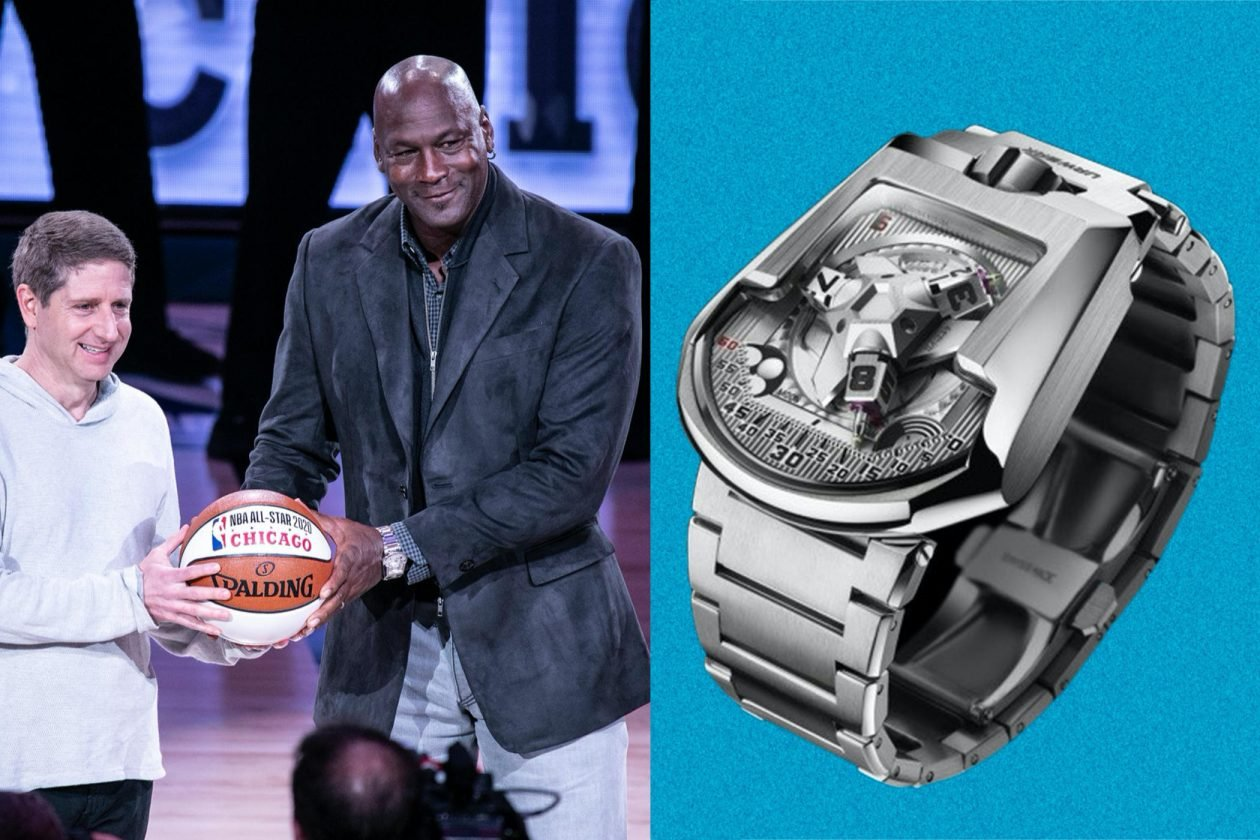 Michael Jordan & Urwerk UR-202S / foto: Jeff Hahne, Getty Images