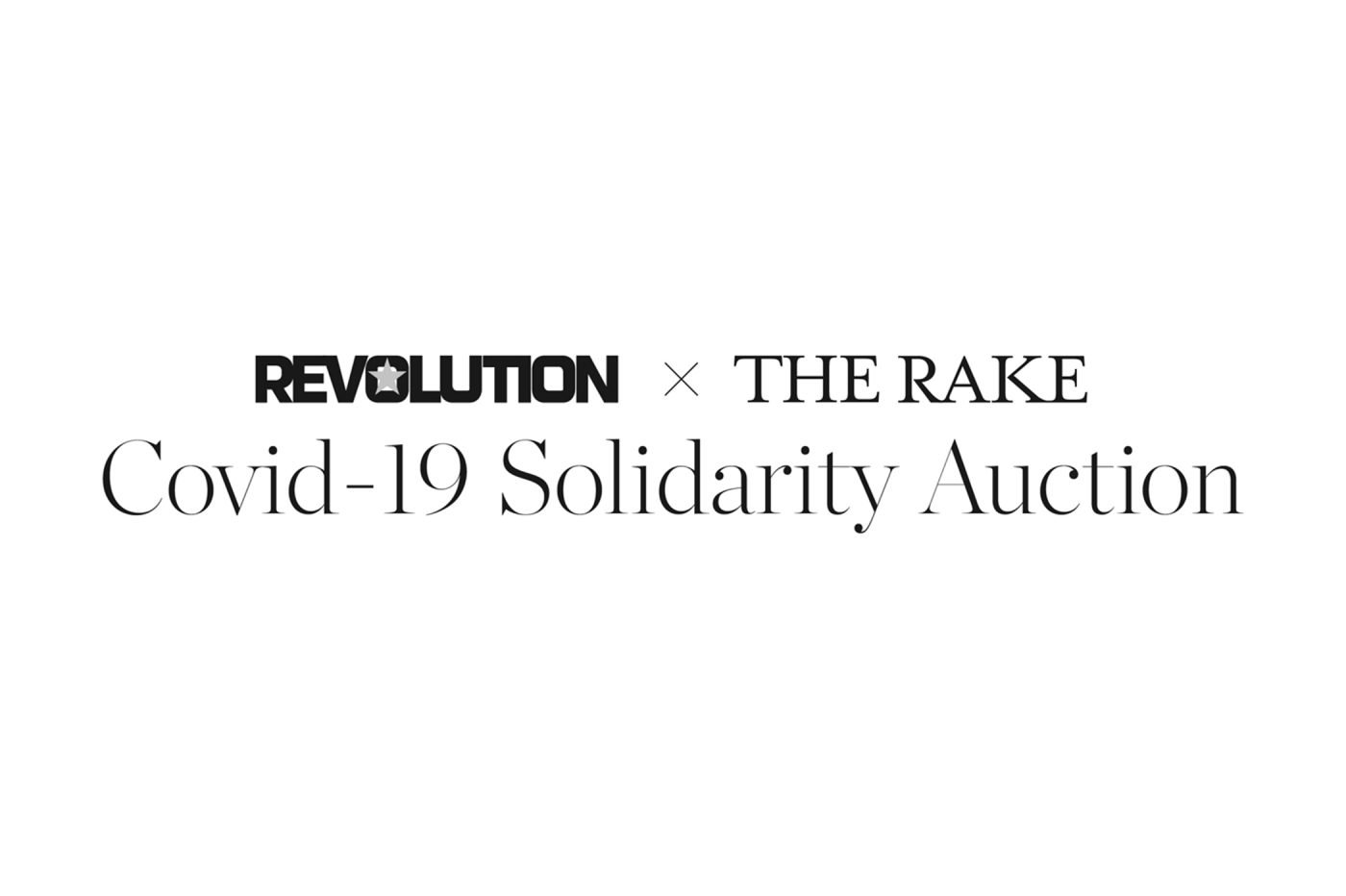 Aukcje Revolution x The Rake COVID-19 Solidarity Auction