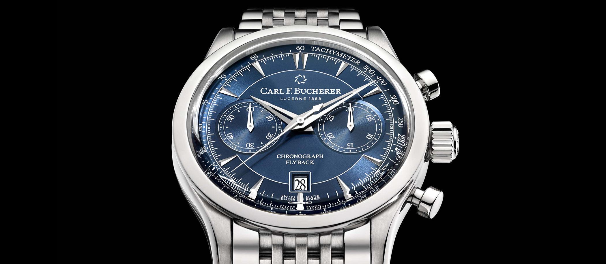 Carl F. Bucherer Manero Flyback Blue