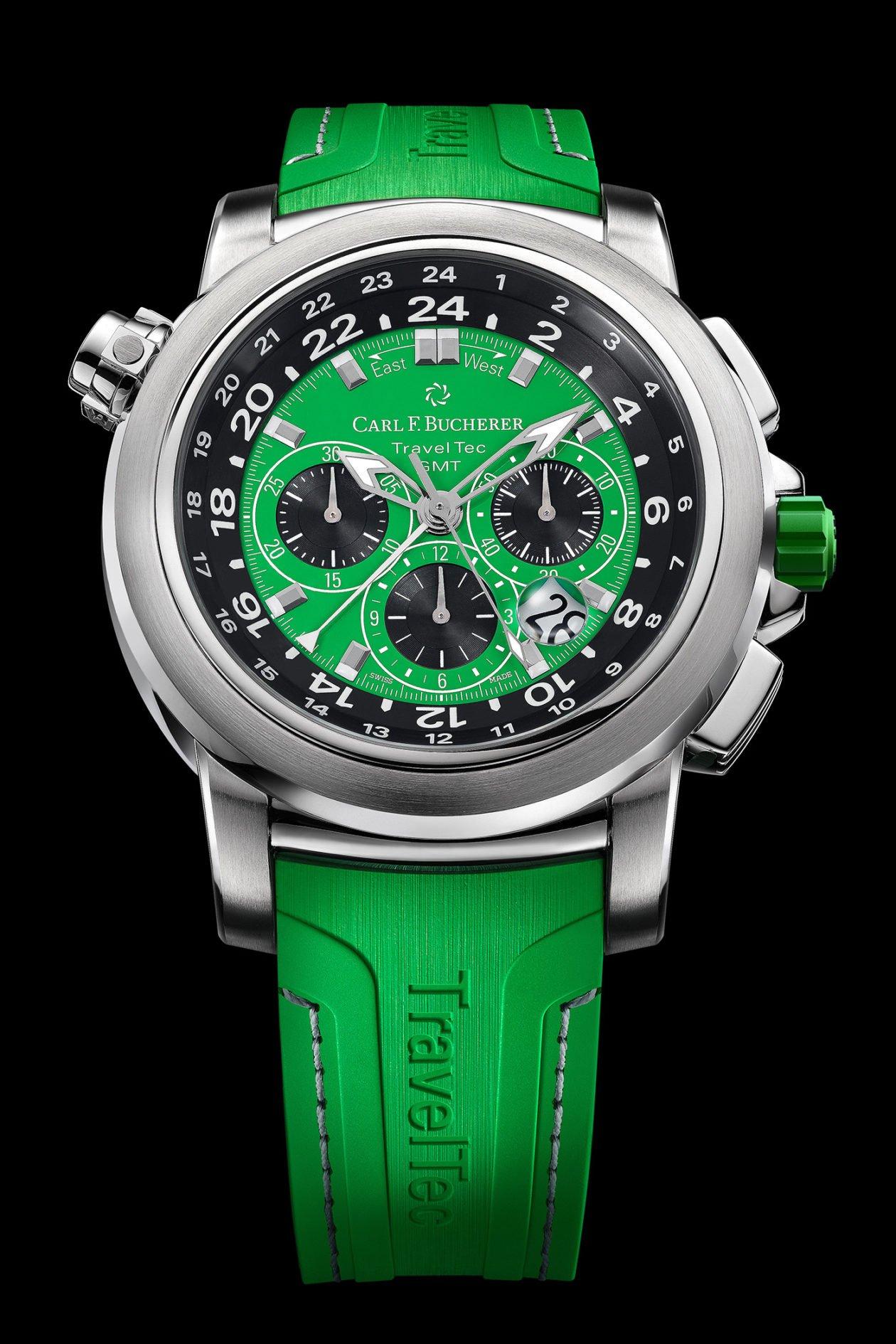 "Carl F. Bucherer Patravi TravelTec ""Green"""