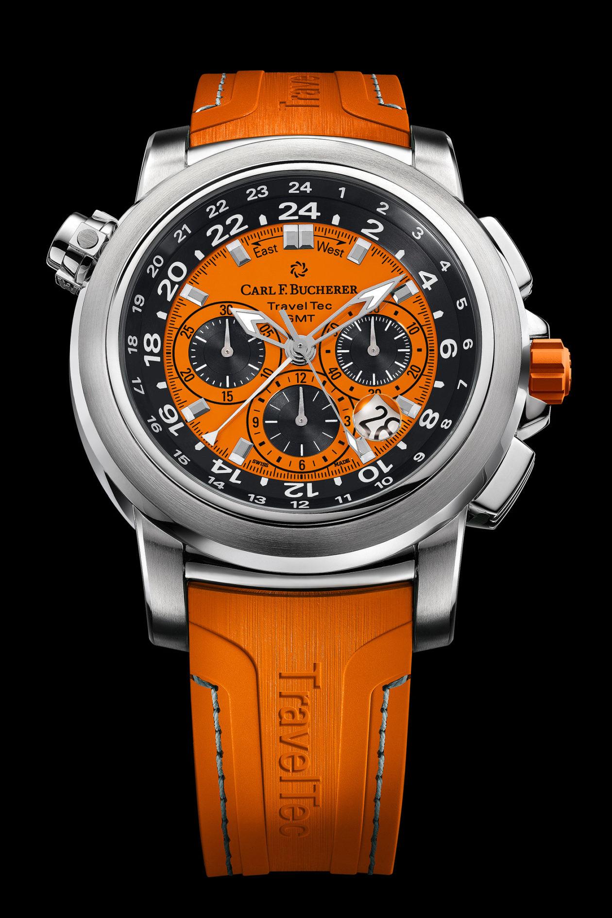 "Carl F. Bucherer Patravi TravelTec ""Orange"""
