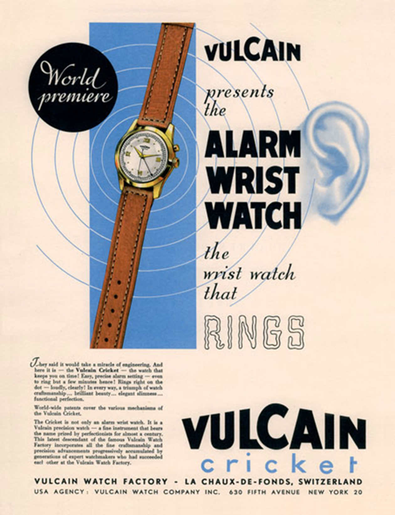 Reklama - Vulcain Cricket