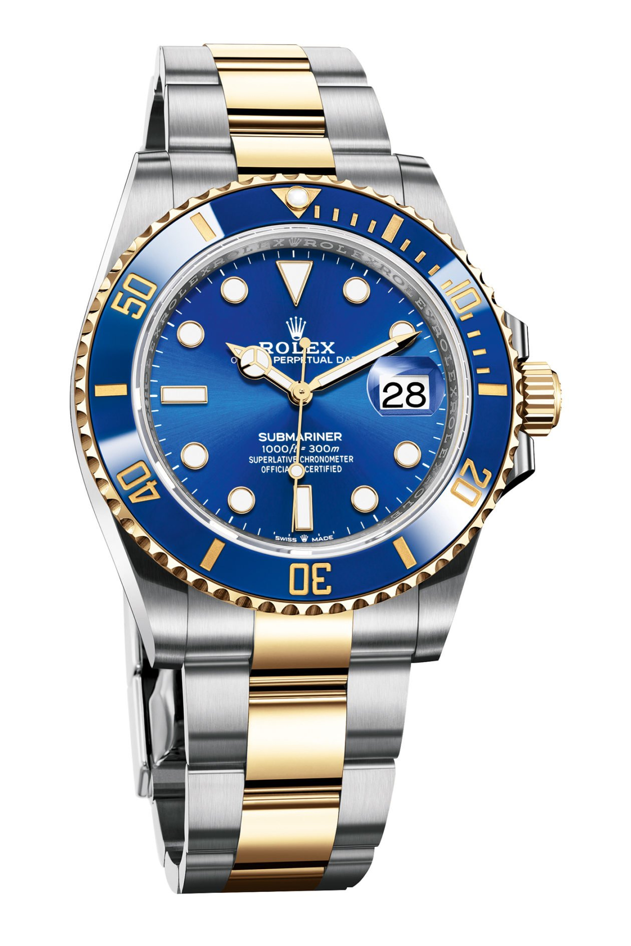 Rolex Oyster Perpetual Submariner 41 White Bi-Color