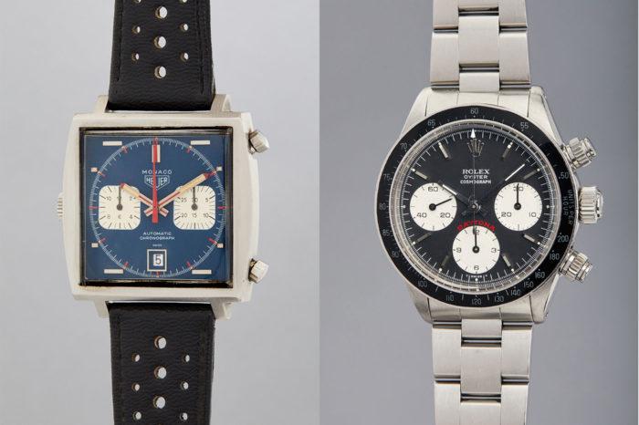 Heuer Monaco Steve McQueena i Rolex Daytona Paula Newmana na aukcji domu Phillips New York