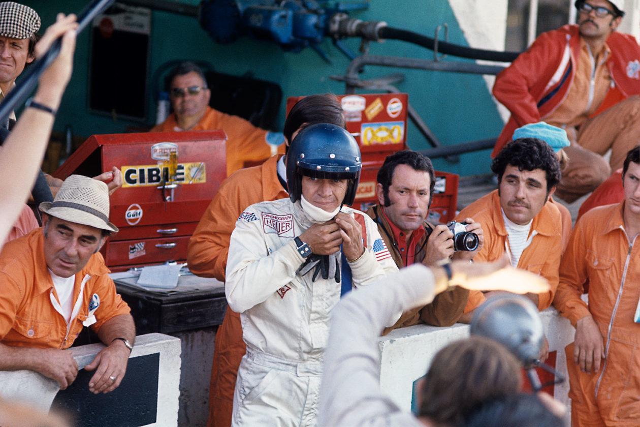 """Steve McQueen na planie """"Le Mans"""""""