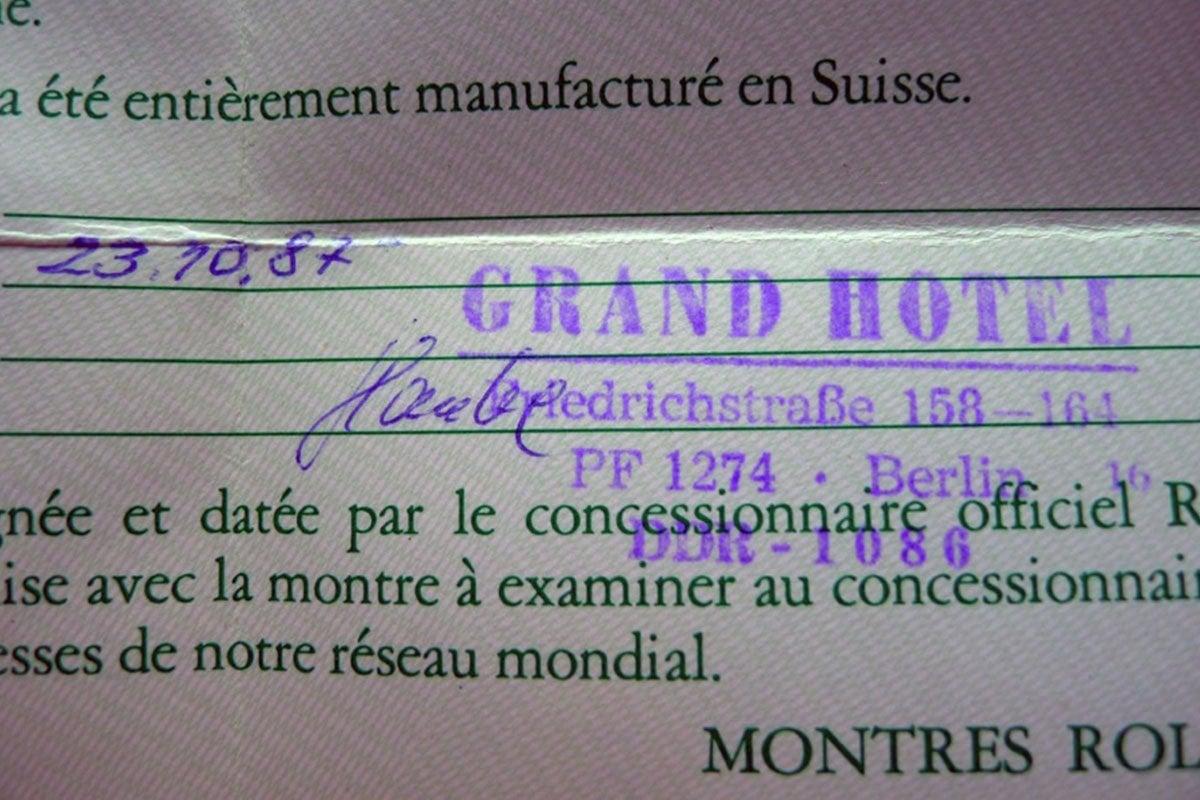 Rachunek z Grand Hotelu / foto: Walter Castillo