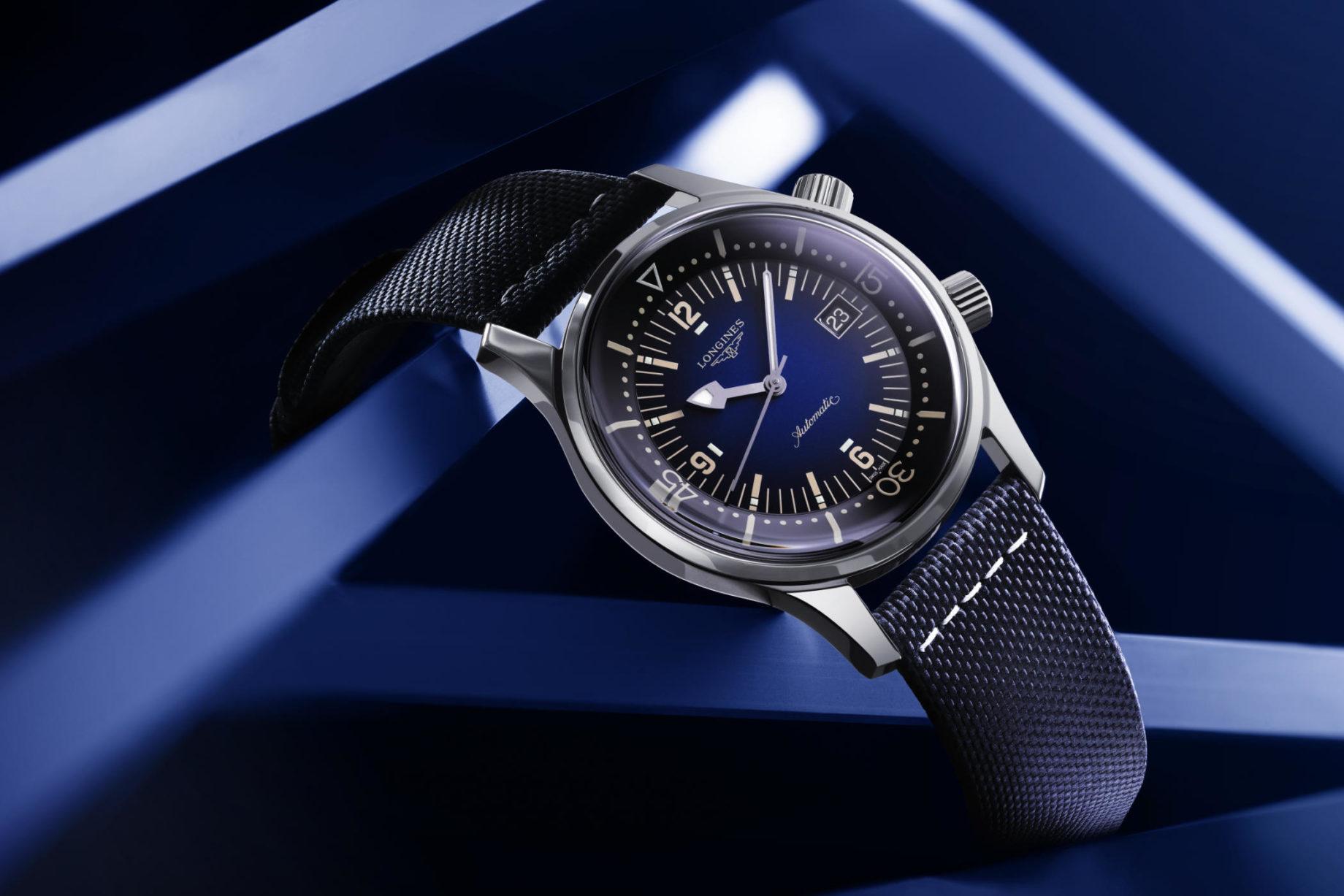 Longines Legend Diver z niebieską tarczą