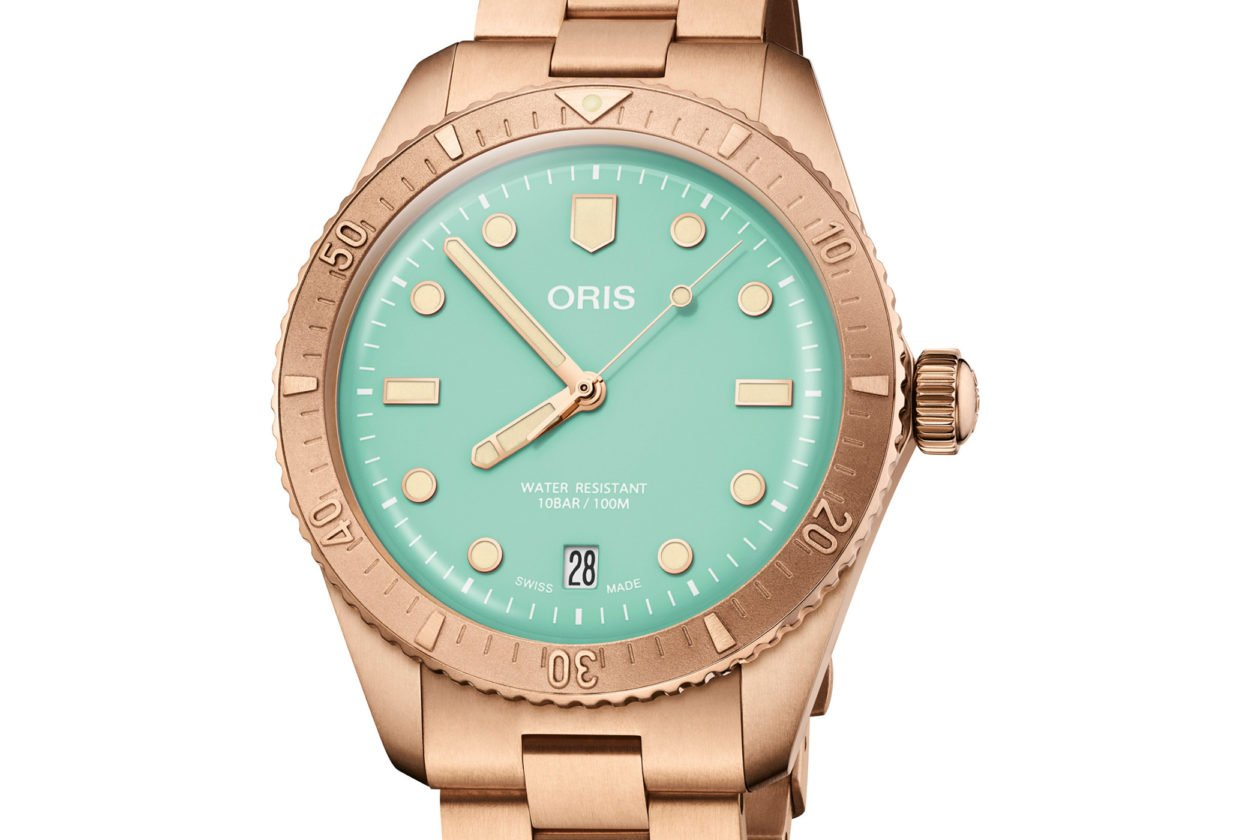 """Oris Divers Sixty-Five """"Cotton Candy"""" Wild Green"""