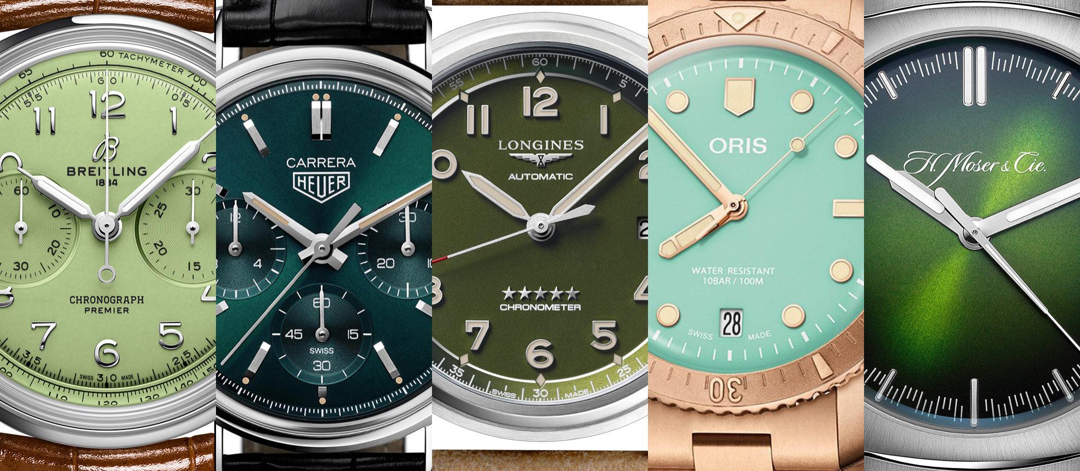 TOP 5 Zegarki z zieloną tarczą