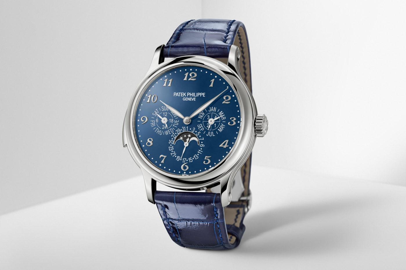 Patek Philippe Ref. 5374G-001 Minute Repeater Perpetual Calendar z niebieską, emaliowaną tarczą [dostępność]