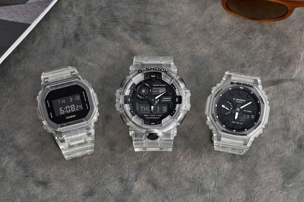 Casio G-Shock Transparent Pack / foto: Hodinkee