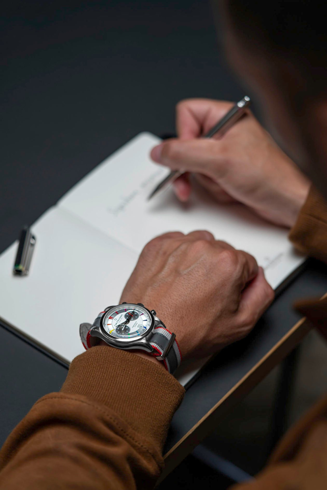 Carl F. Bucherer Manero Flyback Signature x Caran d'Ache